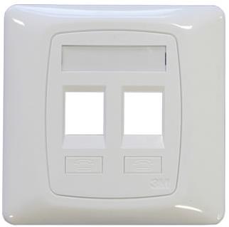 3M Dual shutter face plate
