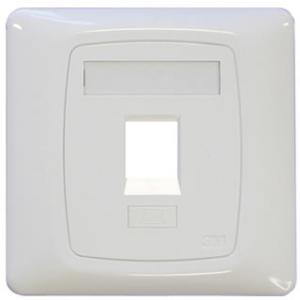 3M single shutter face plate